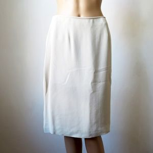Kate Hill for Lord & Taylor 100% Silk Cream Skirt